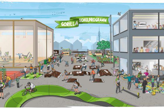 Illustration des GORILLA Schulprogramms.