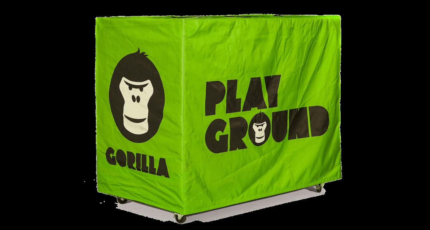 GORILLA Playground mit gruener GORILLA Huelle.